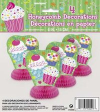 4 décorations de table cupcake