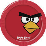 8 assiettes angry bird