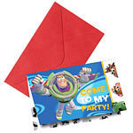 6 cartes d'invitation toy story