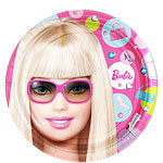 8 assiettes barbie