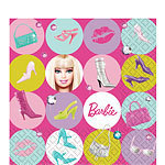 16 serviettes barbie