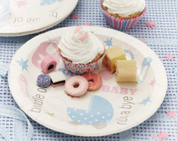 8 assiettes baby shower