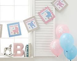 guirlande baby shower easy kids anniversaire. Black Bedroom Furniture Sets. Home Design Ideas