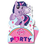 6 cartes d'invitation mon petit poney