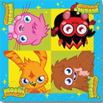 16 serviettes moshi monster