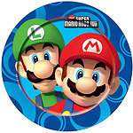 8 assiettes mario bross