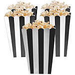 5 boites à pop corn noires