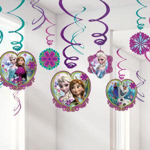 12 suspensions reine des neiges easy kids anniversaire - Deco reine des neiges ...