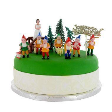 Kit de d co g teau blanche neige easy kids anniversaire - Decoration football pour anniversaire ...