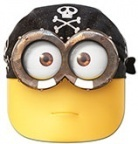 masque minion pirate