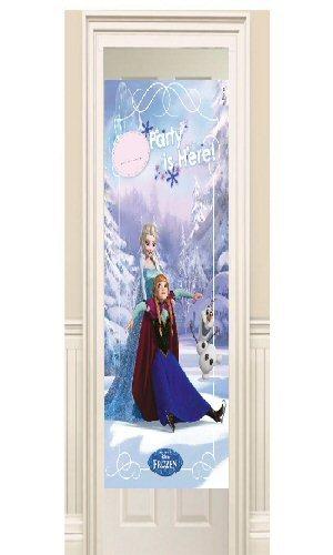 D coration reine des neiges bleu easy kids anniversaire for Decoration porte reine des neiges