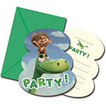 6 cartes d'invitation good dinosaur arlo