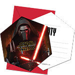 6 invitations star wars the force
