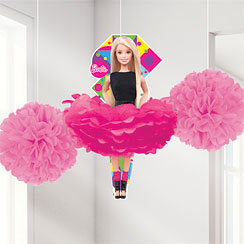 3 décos pompoms barbie