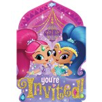 8 invitations shimmer and shine