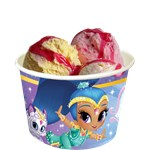 8 pots à glace shimmer and shine