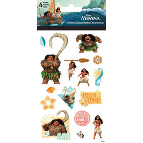 4 planches de stickers vaiana