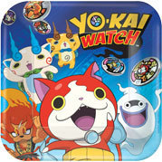 8 assiettes yo-kai watch