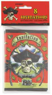 8 invitations pirate
