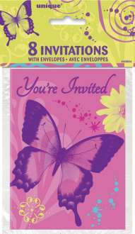 8 invitations fée