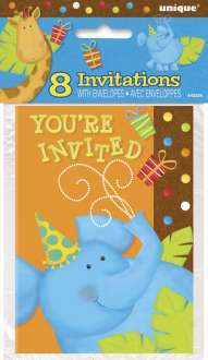 8 invitations jungle
