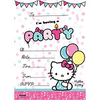 20 cartes d'invitation hello kitty