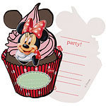 6 invitations minnie