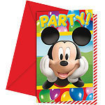 6 cartes d'invitation mickey