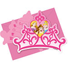 6 invitations princesses disney
