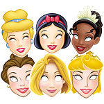 6 masques princesse disney