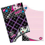 6 cartes d'invitation monster high