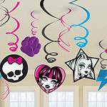 12 suspensions de décoration monster high