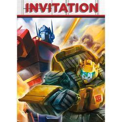 6 cartes d'invitation transformers
