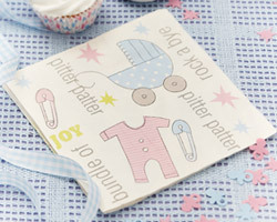 8 serviettes baby shower