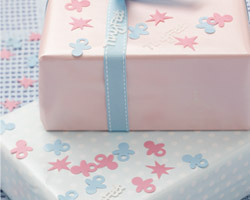 confettis de table baby shower