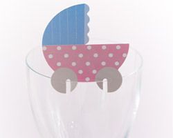 10 décorations de verre baby shower