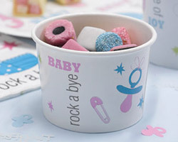 10 pots de glace baby shower