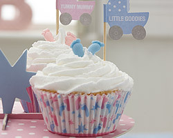 20 caisses à cupcake baby shower