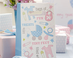 5 sacs de fête baby shower