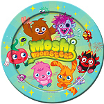 8 assiettes moshi monster