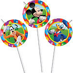 6 pailles mickey mouse