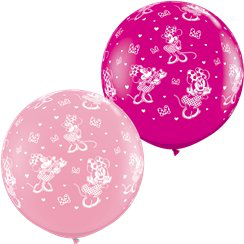 2 ballons géants minnie 90cm