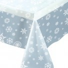nappe transparente flocon de neige