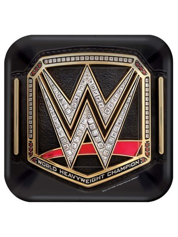 8 assiettes catch WWE