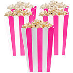 5 boites pop corn roses