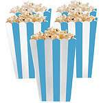5 boites pop corn bleues