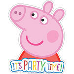 6 cartes d'invitation peppa pig