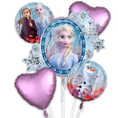 bouquet de ballon reine des neiges