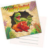 8 cartes d'invitation dinosaure
