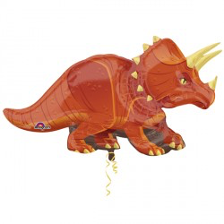 ballon géant dinosaure orange 91cm